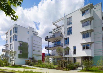 Drei Stadtvillen mit Tiefgarage, Rheinufer Süd in Ludwigshafen